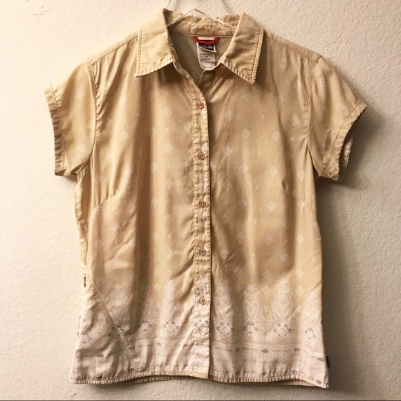 b3e8533d8 The North Face Button Up Hiking Shirt Short Sleeve